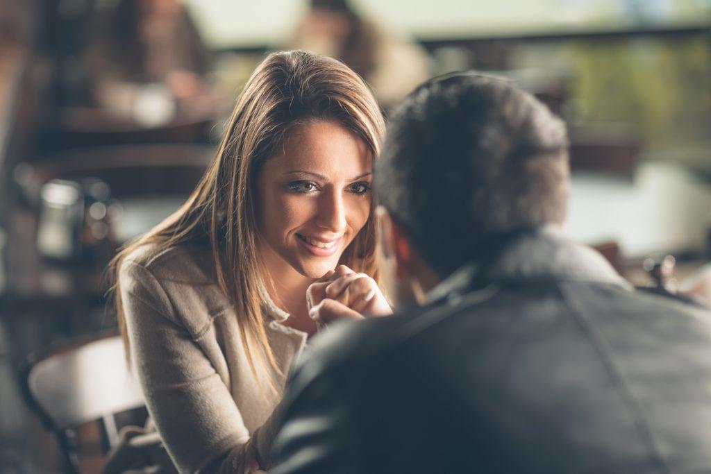Romantic Couple Flirting At The Bar