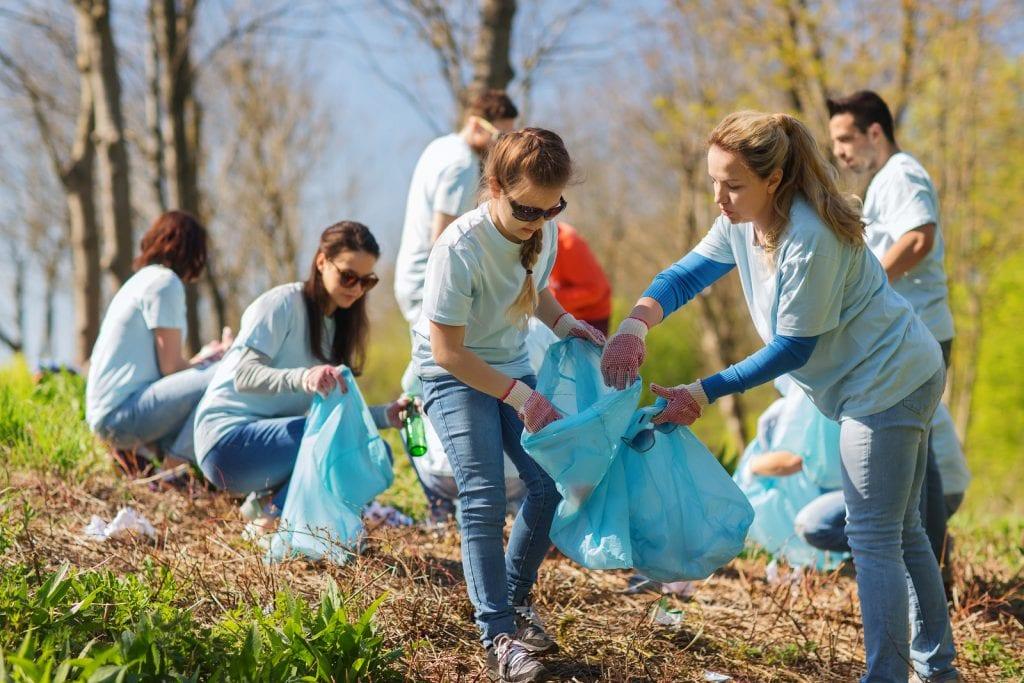 Young people volunteering in their community
